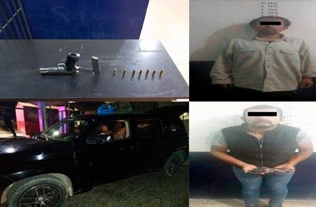 DETIENE POLICÍA DE CORONANGO A DOS SUJETOS POR PRESUNTA PORTACIÓN DE ARMA DE FUEGO