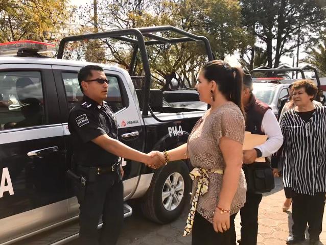 FORTALECE NORMA LAYÓN LA SEGURIDAD DE TEXMELUCAN CON NUEVAS PATRULLAS Y MÁS CÁMARAS DE VIDEO VIGILANCIA