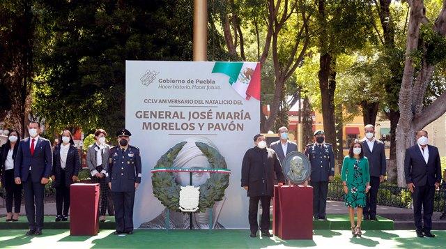 MIGUEL BARBOSA HUERTA ASISTIÓ A LA CEREMONIA CONMEMORATIVA AL CCLV ANIVERSARIO DEL NATALICIO DEL GENERAL JOSÉ MARÍA MORELOS Y PAVÓN