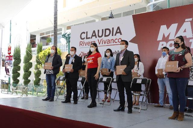 CLAUDIA RIVERA VIVANCO CONCLUYE INFORMES DE TRABAJO EN LAS 17 JUNTAS AUXILIARES