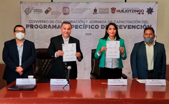 AYUNTAMIENTO DE HUEJOTZINGO Y SEGURIDAD PÚBLICA ESTATAL REFRENDAN COOPERACIÓN PARA EL FORTALECIMIENTO DE LAS TAREAS DE CAPACITACIÓN