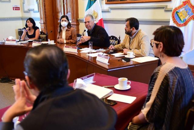 AYUNTAMIENTO DE PUEBLA Y EMPRESARIOS CONSTRUYEN ACUERDOS PARA EL FORTALECIMIENTO DEL PROYECTO DE OBRA DEL CORREDOR 5 DE MAYO