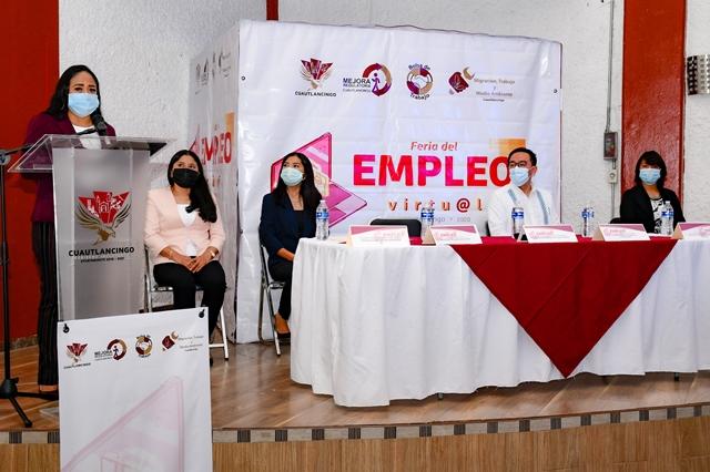 EN FERIA VIRTUAL DEL EMPLEO, CUAUTLANCINGO OFRECE 228 VACANTES
