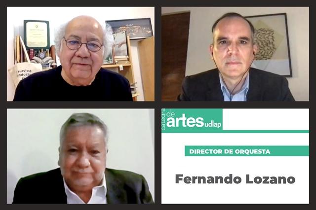 FERNANDO LOZANO RESALTA LA IMPORTANCIA DE LA MÚSICA Y LAS ORQUESTAS DURANTE LA CÁTEDRA DE ARTES UDLAP