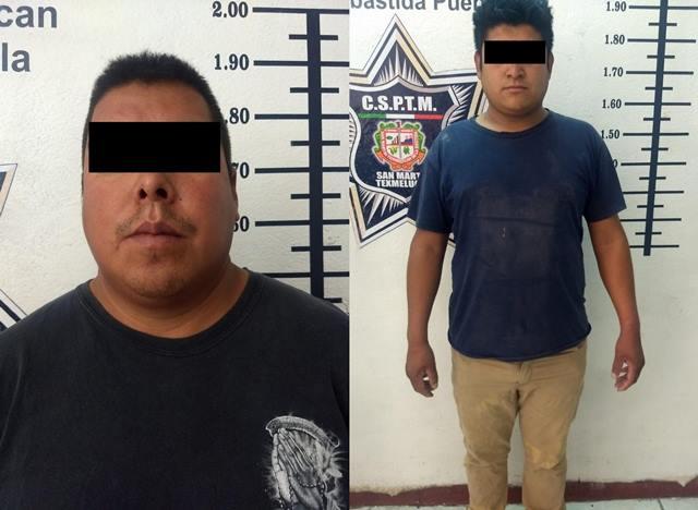 POLICÍA DE TEXMELUCAN DETIENE A PRESUNTOS ASALTANTES DE TIENDAS DE CONVENIENCIA