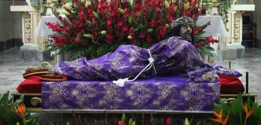 BAJADA DEL SEÑOR DEL DESMAYO AL BARRIO DE SANTIAGO MIXQUITLA, SAN PEDRO CHOLULA