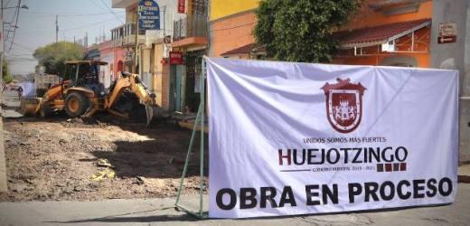 ARRANCAN OBRAS DE REHABILITACIÓN EN VIALIDADES DE LA CABECERA MUNICIPAL DE HUEJOTZINGO