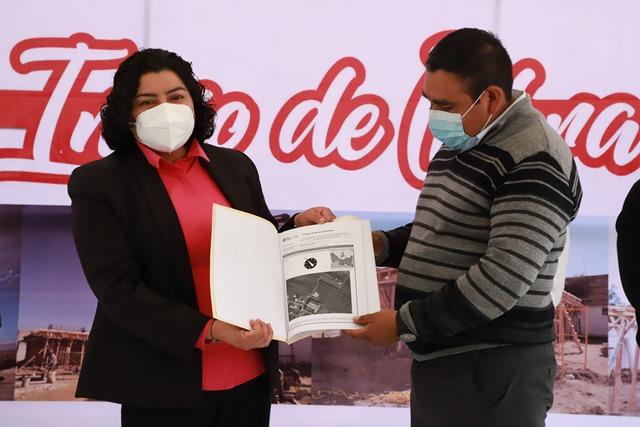KARINA PÉREZ POPOCA ENCABEZA INICIO DE OBRA DEL PREESCOLAR JUSTO SIERRA EN SAN ANTONIO CACALOTEPEC