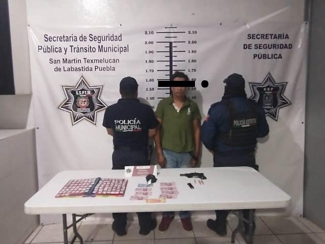 """LOGRAN DETENCIÓN DE PRESUNTO RESPONSABLE DE DELITOS CONTRA LA SALUD, ALÍAS """"EL PIOLÍN"""", EN TEXMELUCAN"""