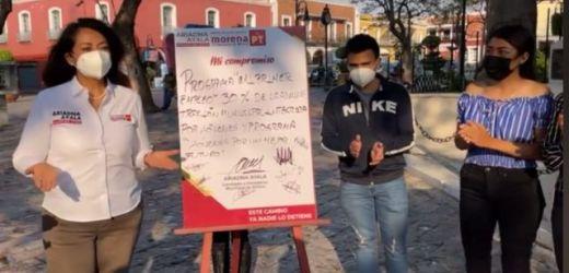 ARIADNA AYALA SE COMPROMETE A IMPULSAR EL TALENTO Y POTENCIAL DE LOS JÓVENES DE ATLIXCO