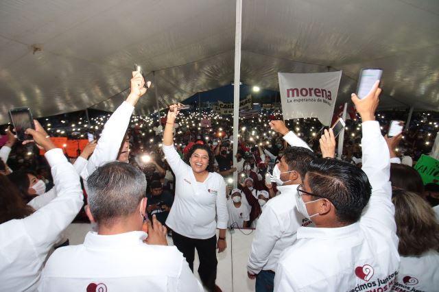 KARINA PÉREZ POPOCA SE ENCAMINA AL TRIUNFO POR LA ALCALDÍA EN SAN ANDRÉS CHOLULA