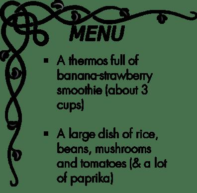 Day 6 menu