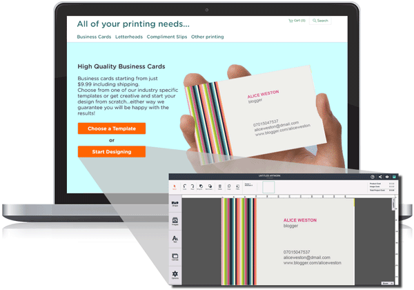 Artworktool business card popup customization