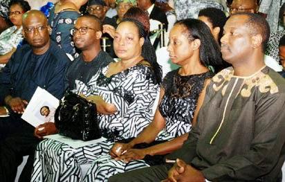 Her husband, Mr. Afolabi Cardoso, their only child, Mr. Bankole Cardoso with her siblings Ami Adadavoh; Dr. Ama Adadevoh & Mr. Kodjo Adadevoh at last night event