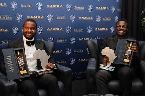 Chude Jideonwo and partner, Adebola Williams at the All African Business Leaders Awards last year