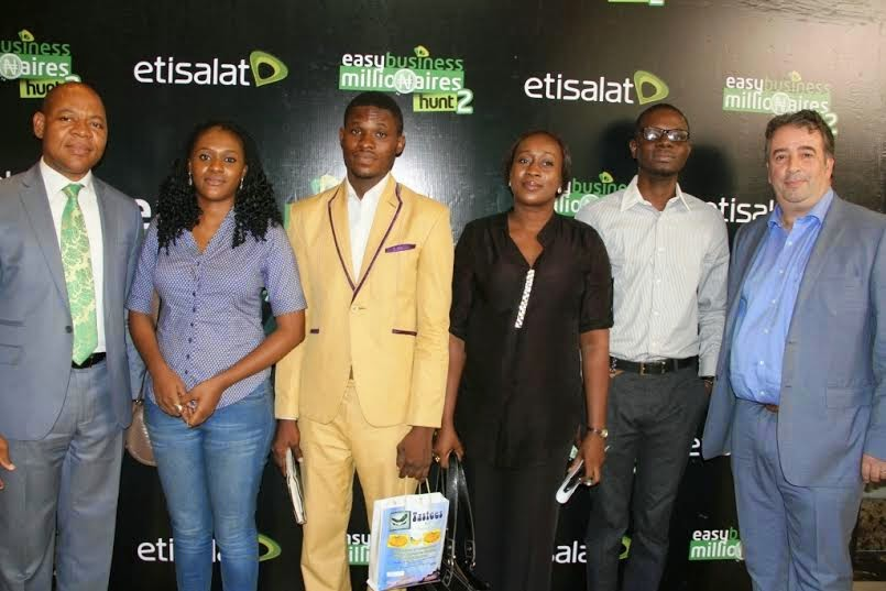 (L-R): Chief Marketing Officer, Etisalat Nigeria, Francesco Angelone; Director, Enterprise Development Centre (EDC) Pan-African University, Nneka  Okekearu and Director, Enterprise Segment, Etisalat Nigeria, Lucas Dada, at the launch