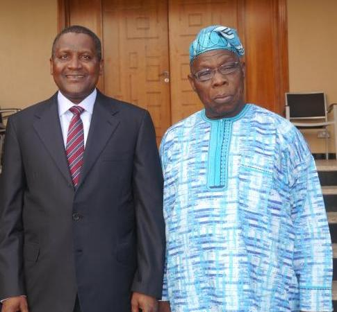 Aliko Dangote, Olusegun Obasanjo partner to connect African Entrepreneurs to Foreign Investors.