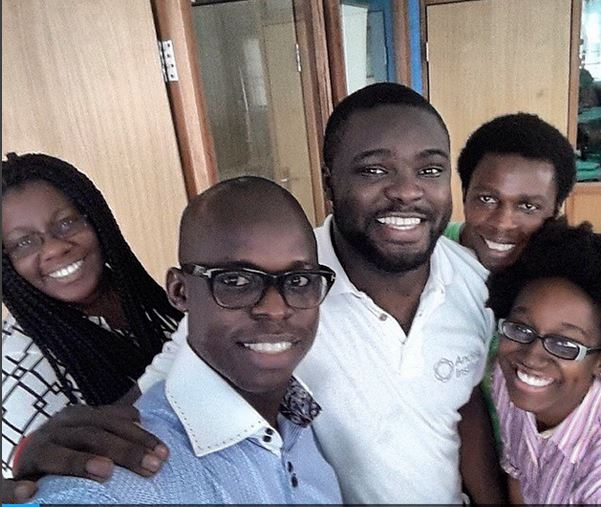 With the Andela fellows