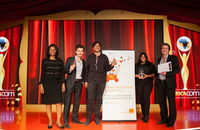 "Innovative ""click funding"" Egyptian startup wins 25,000 euros at the 2015 Orange African Social Venture Prize"