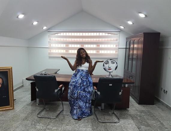 Linda Ikeji unveils new workplace; set to launch music website, radio and TV station (Photos)