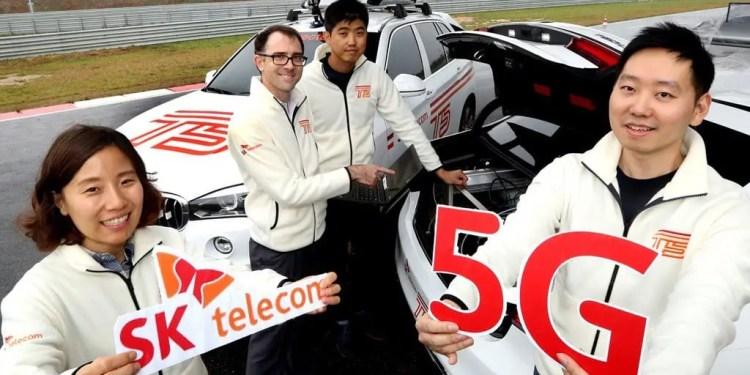 sk telecom 5G connected car