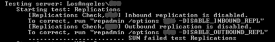 Inbound Outbound Replication is Disabled