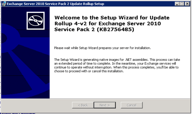 Setup Wizard prepares your server for installation. Setup Wizard is generating native images for .NET assemblies.