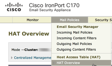 How to add email address domain to IronPort whitelist