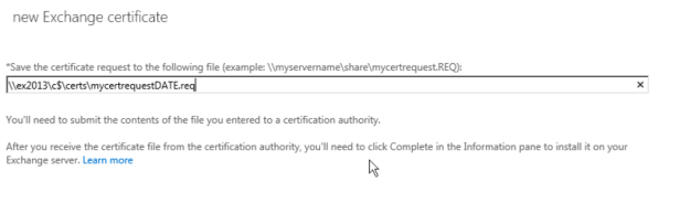 certificate request path