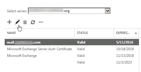 assign certificate to Exchange 2013 services (IIS, SMTP, POP