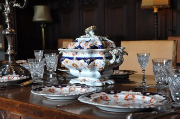 Rust and Cobalt Tureen and serving pieces
