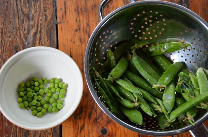 Shell the fresh peas