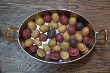 Arrange the potatoes