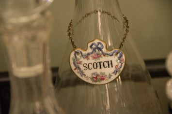 A ceramic Scotch label