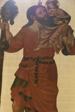 The mural of St Christopher the giant