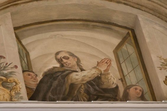 The artist of the ceiling fresco put himself into the mural
