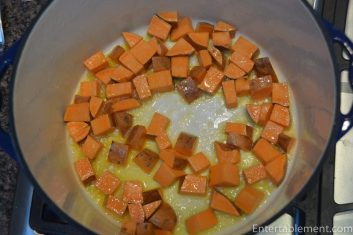 Saute the Sweet Potato