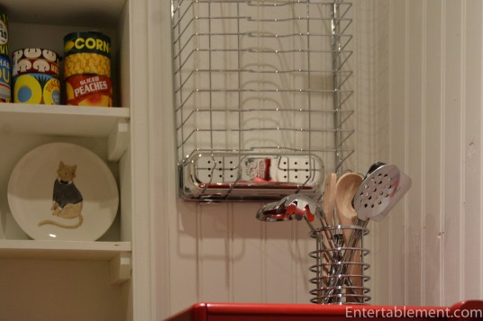 Dish Rack hung on the wall