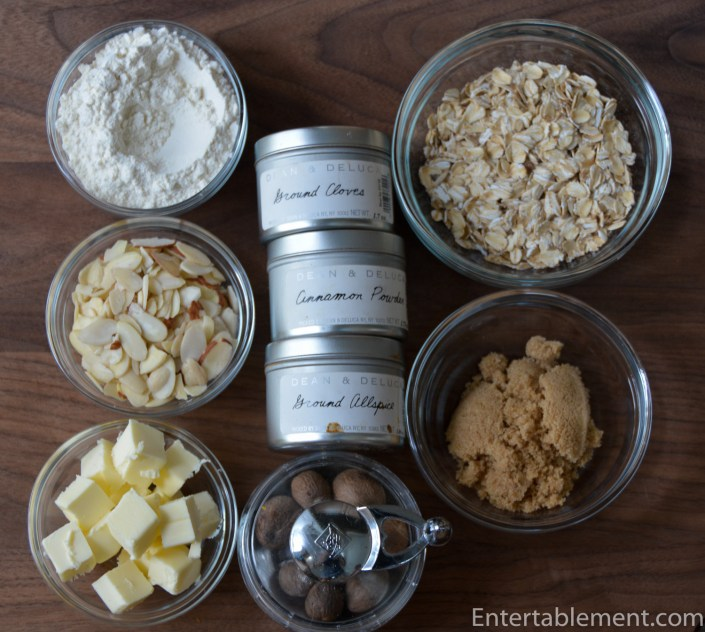Gather the crumble ingredients