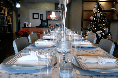 Winter Wonderland Themed Company Christmas Party On A $50