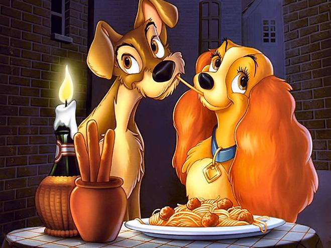 lady and the tramp romantic spaghetti scene