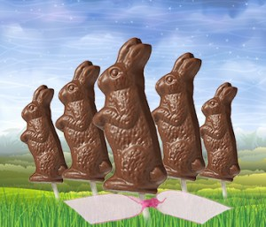 Chocolate Easter Bunny Pops
