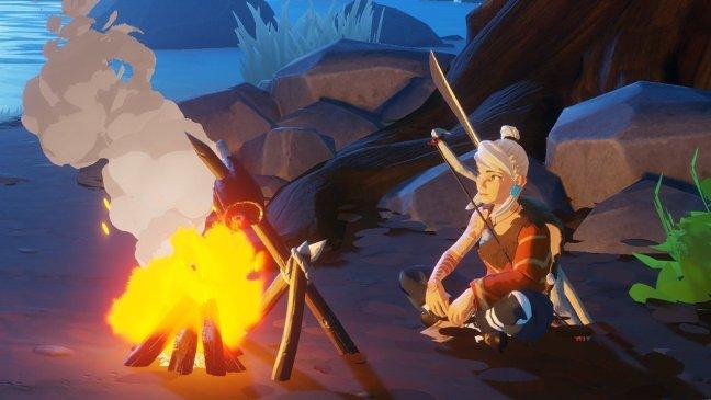 Windbound campfire
