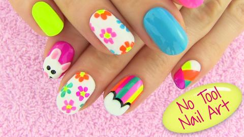 Diy Nail Art Without Any Tools 5 Designs Projects