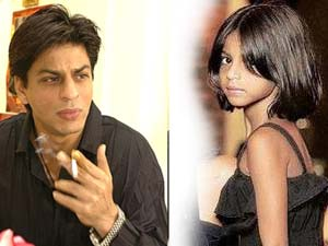 Shahrukh Khan and his daughter Suhana