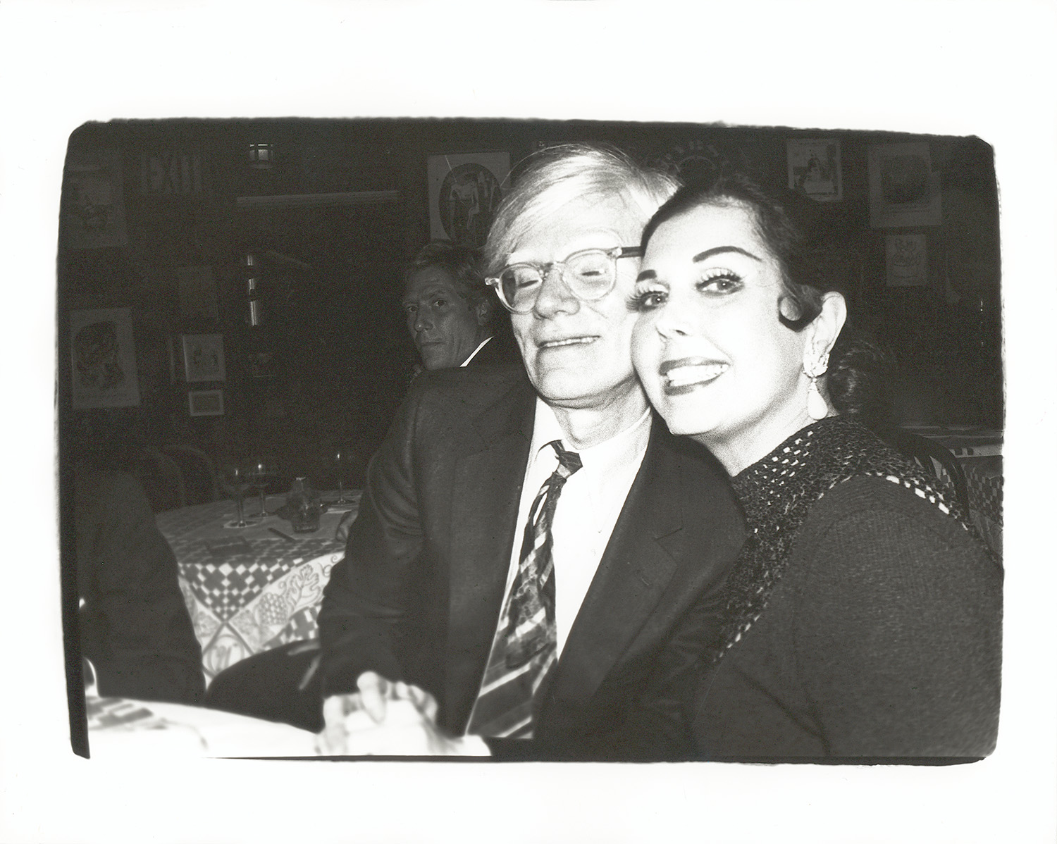 Warhol with Ann Miller, one of the many stars of silver screen he befriended.