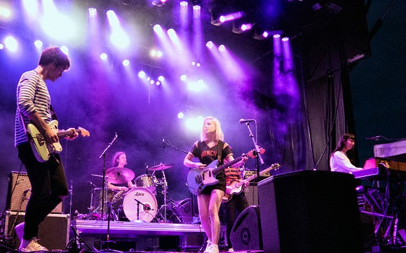 Alvvays performing at the Sasquatch! Music Festival in 2015 in George, Washington. Photo: David Lee and Wikipedia.