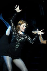 Roxie's always in an upbeat mood especially when she's singing and dancing.