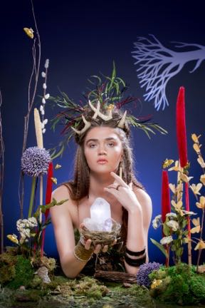 A fanciful Earth Day photo shot by Laura Petrilla that will be featured in Macy's Downtown windows with several others and auctioned off.