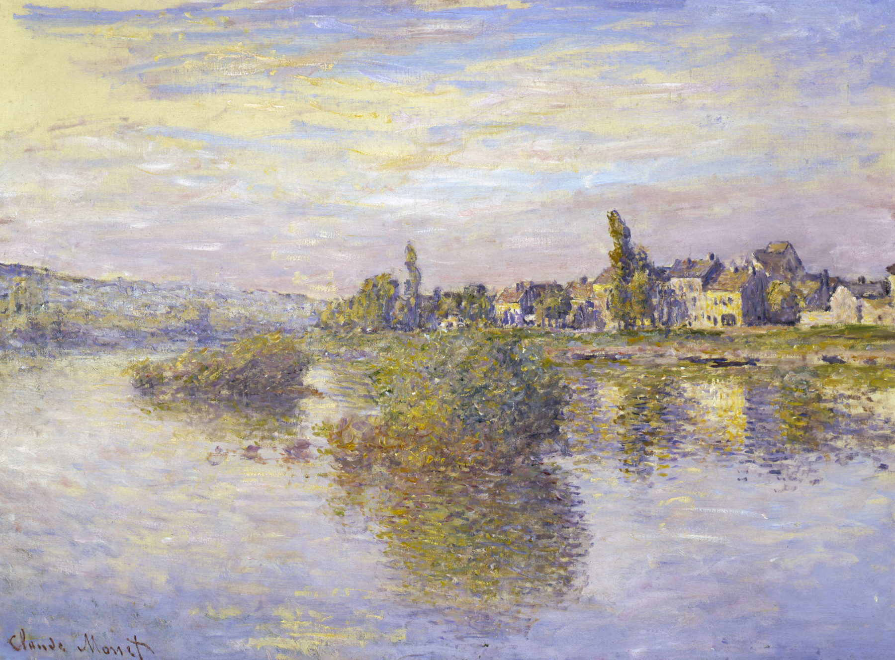 """To catch the shimmer truly, Monet's """"Banks of the Seine at Lavacourt"""" (1879) should be seen in the original."""